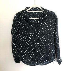 Brandy Melville Silky Star Button Up